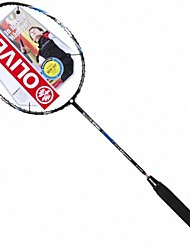 Black+Blue Carbon Fiber Offensive Badminton Rackets Bi ACE SPEED