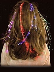 LED Aglimmer Glowing Flash Hair Braid Novelty Party Accessories (1 PCS,Random Color)