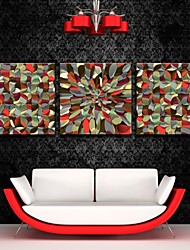 E-HOME® Stretched Canvas Art Abstract Patterns Decoration Painting Set of 3