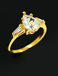Women's Golden Alloy Wedding Couple Rings Promis rings for couples
