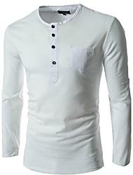 Sherman Men's Fashion Round Neck Long Sleeve Shirt