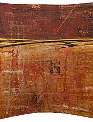 ensemble de trois tachetée peinture velours taie d'oreiller décoratif