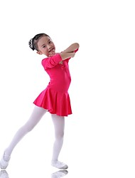Kids' Dancewear Dresses Children's Training Cotton Blue / Fuchsia / Pink / Yellow Ballet Long Sleeve Natural Princess