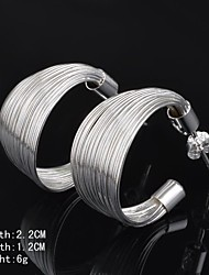 Hoop Earrings Women's Silver Earring