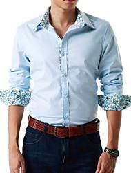 Men's Shirt Collar Casual  Long Sleeve Shirt