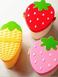 la forme du fruit de la boîte à double couche le déjeuner, le plastique 15 × 13 × 8 cm (6,0 × 5,2 × 3,2 pouces) de type aléatoire