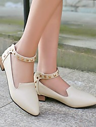 Women's Shoes Pointed Toe Chunky Heel Loafers with Zipper Shoes More Colors available