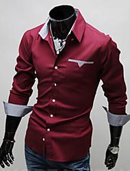 Romeo Men's Casual Long Sleeve Cotton Shirt