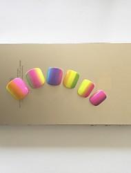 24pcs corlorful rainbow Fingernägel