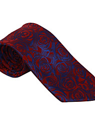 Burgundy&Dark Blue Pattern Tie