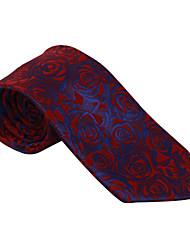 Бургундия&темно-синий рисунок галстук