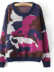 L'hiver de femmes nouvelle version coréenne de camouflage casual pull chandail