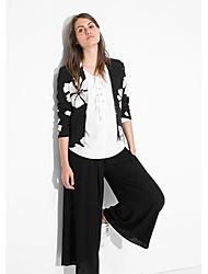 MOSCHIN col de revers manteau imprimé de style occidental floral des femmes
