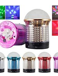sg-11 de cristal portátil luces de colores altavoz bluetooth inalámbrico es compatible con funciones fm