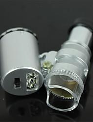 валюта обнаружения со светодиодной подсветкой микроскоп 60x