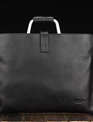 cuero de vaca genuino bolso maletín portátil de unisex