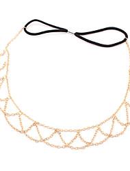 de la cadena de oro de la joyería de los accesorios del pelo hairband herramientas de diseño de joyería diadema cabeza cadena cabeza pelo de la corona