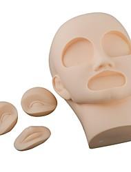 3D Permanent Makeup Practice Mannequin Head(Include 2Pcs Eyes+1Pc Lip)