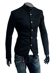 Men's Long Sleeve Regular Jacket , Others Pure