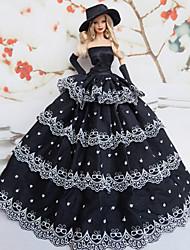 Barbie Doll Shining Stars Pattern Deluxe Evening Dress