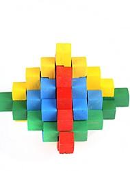 sbloccare puzzle colorato giocattolo di legno