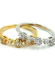 Women's Gold and Silver Alloy Sports Rings