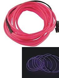Auto Car 2M Long 7mm Dia Flexible EL Wire Neon Glow Strip Rope-(12V)