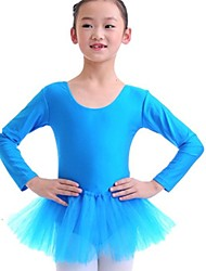 Kids' Dancewear Dresses Children's Training Spandex Blue / Pink Ballet Long Sleeve Natural