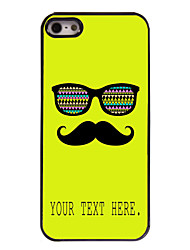 Personalized Case Mustache and Glasses Design Metal Case for iPhone 5/5S