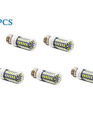 5 pcs E26/E27 12 W 56 SMD 5730 1200 LM Warm White / Cool White T Corn Bulbs AC 220-240 V