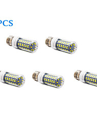 5 pcs E26/E27 12 W 56 SMD 5730 1200 LM Warm White/Cool White Corn Bulbs AC 220-240 V