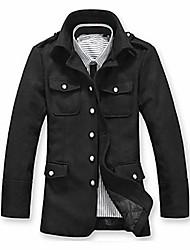 Men's Winter Stand Collar Woolen Coat