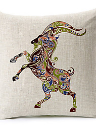 красочные овец хлопок / лен печатных декоративная подушка крышка