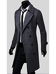 la mode long manteau double tweed du sein de Paul hommes