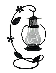 European Style Black Countryside Candle Holder