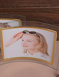 curvo forma photo frame-set de 2 (padrões aleatórios)
