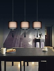 40w Modern/Contemporary Chrome Metal Pendant Lights Bedroom / Kitchen / Kids Room / Game Room