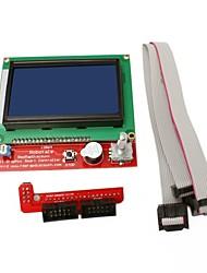 3d impressora controlador inteligente ramps1.4 lcd 12864 controlador inteligente