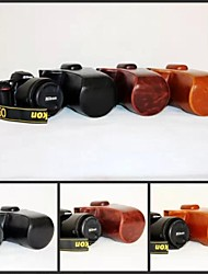 Dengpin PU Leather Oil Skin Camera Case Bag Cover for Nikon D750 DSLR Camera with 24-70 24-120mm Lens No Strap