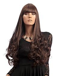 Long Dark Brown Loose Wave Synthetic Wigs