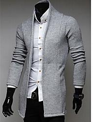 Romeo Men's Solid Color Knitting Cardigan