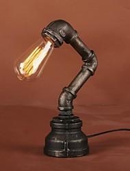 Lámpara de mesa de la vendimia rústico pipa de agua para el bulbo edison en campo amercian estilo industrial