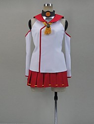 Inspired by Kantai Collection Cosplay Video Game Cosplay Costumes Cosplay Suits Patchwork Red SleevelessTop / Skirt / Stockings / More