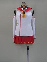 Inspirado por Kantai Collection Fantasias Vídeo Jogo Cosplay Costumes Ternos de Cosplay Patchwork Vermelho Sem MangasTop / Saia / Meias
