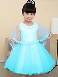vestido vestido de princesa vestido de manga curta de duas peças conjuntos de menina