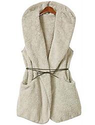 Peach John Women's Sleeveless Slim Fashion Hoodie Causual Thicken Waistcoat