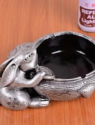 alta qualidade do estilo chinês padrão de coelho de metal ashtray--