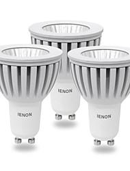 ienon® 3pcs GU10 5w 400-450lm fredda calda luce / bianca led blub piatte (AC100-240V)
