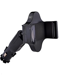 Universal HC-06 360°Rotatable Car Mount Bracket USB Charger for iPhone 5/HTC/Samsung (Black)