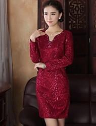 millésime mince chinois de style mini-robe des femmes